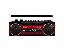 SANSUI Bluetooth SCR-B2 Red Boombox USB SD card MP3 Japan Import Wit From japan