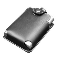 8oz Stainless Steel Whiskey Wine Flagon Alcohol Hip Flask with Leather Case H1