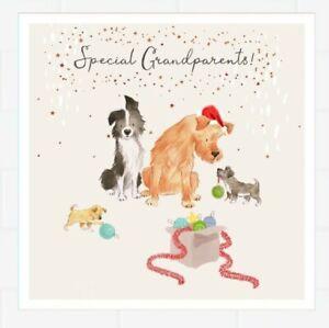 "Hallmark Christmas Card ""Special Grandparents"" Dog Images"