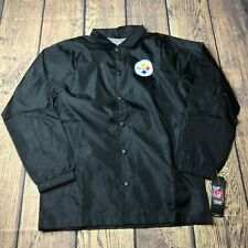 NFL Youth Boys Large 14/16 Pittsburgh Steelers Bravo Coaches Windbreaker Jacket