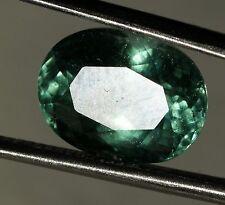 6.38 ct. 12.99 x 9.77 mm *AGL Certified* PARAIBA TOURMALINE Gray-Blue-Green Oval