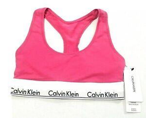 Calvin Klein Women's Solid Bralette Unlined Modern Bra Cotton Size XS NWT