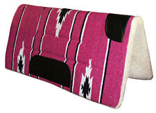 NEW Western PINK Saddle Thick Pad Blanket Navajo Western or Stock with Leather