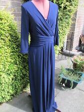 BNWT-PLANET-NAVY BLUE STRETCH POLYESTER EVENING DRESS-LINED-3/4 SLEEVES-10-£119.