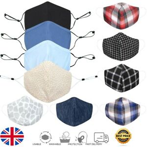 Face Masks Reusable Masks UK Washable Mouth Nose Breathable Protection Cover