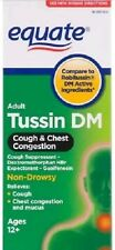 (Lot of 6) Equate - Tussin DM - Cough Suppressant/Expectorant Syrup, 4 oz Each