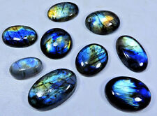 Wholesale Natural Multi Flash Labradorite Oval Loose Gemstone Cabochon 15Pcs Lot