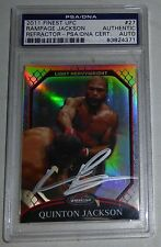 Quinton Rampage Jackson Signed UFC 2011 Topps Finest Refractor Card PSA/DNA Auto