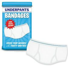 Underpants Bandages in Tin w/FREE PRIZE Inside By Accoutrements Latex-free