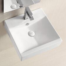 Lux-aqua Waschtisch Waschschale handwaschbecken zur Wandmontage 45x45cm 4821A