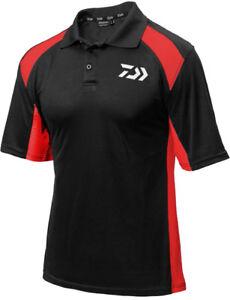 DAIWA POLO SHIRT BLACK/RED DPSBR RRP£24.99