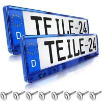 2x Top Kennzeichenhalter Chrom Voll-verchromt Hochglanz Made in EU 52x11cm 25