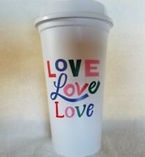 Starbucks***LOVE Love Love***Reusable GRANDE Plastic COFFEE/TEA CUP~~~BRAND NEW
