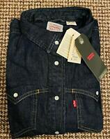 LEVI'S Women's Barstow Blue Denim Shirt Vintage Long Sleeve Casual Western Shirt