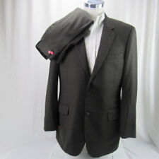 JOS. A BANK SIGNATURE COLLECTION DARK BROWN PINSTRIPE 100% WOOL MENS SUIT- 42 L