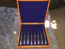 JAPAN KNIFE SWORD Stainless Steel 8 Steak Knives in Wood Box VTG TOKYO JAPANESE