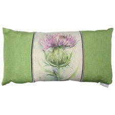 Green Thistle Country Pattern Cushion - Voyage Maison