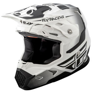 FLY RACING TOXIN ORIGINAL MX OFF-ROAD MOTOCROSS HELMET WHITE/BLACK