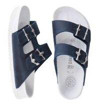 LAST Birkenstock Arizona Patrick Muff Limited Edit 39 US 8 Narrow Blue Anchor !