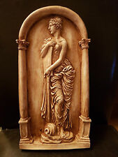 Greek lady water bearer decorative ornate plaster wall hanging plaque new gift