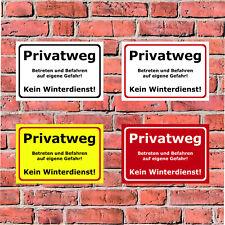 Schild Privatweg - Betreten und Befahren auf eigene Gefahr 4 Größen - S00018-001