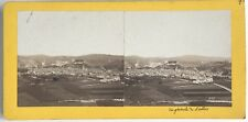 Lourdes Panorama Photo Provost Toulouse Stereo Vintage Albumine c1868