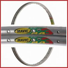 "NOS MAVIC MA3 RIMS 28"" 700c 32H VINTAGE CLINCHER 90s ROAD RACING BIKE SILVER"