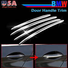 4x Replacement Alloy Chrome Door Handle Trim Decor for BMW 5 Series F10 F18 F11