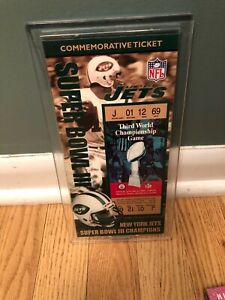 Super Bowl III Commemorative Ticket New 2821 Out Of 10000