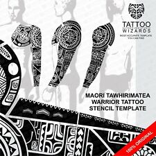 Maori Polynesian Tawhirimatea Warrior Tattoo Stencil Template