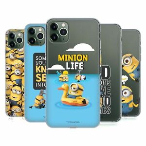 OFFICIAL DESPICABLE ME FUNNY MINIONS SOFT GEL CASE FOR APPLE iPHONE PHONES