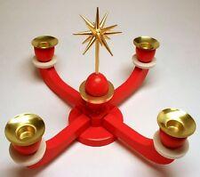Adventsleuchter rot mit Stern Erzgebirge