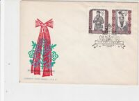 Poland 1959 Polish Folk Costumes Bird + Plant Cancel FDC Stamps Cover ref 22983