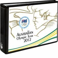 2012 Australian Olympic Team   -   set of 5 carded coins in folder....  .... ..d