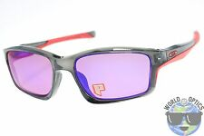 Oakley Chainlink Sunglasses OO9247-10 Grey Smoke w/ OO Red Iridium Polarized