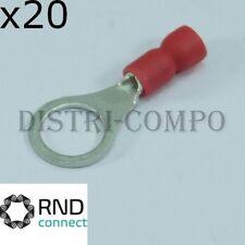 Cosse à oeillet 8.4mm à sertir rouge RND Connect (lot de 20)