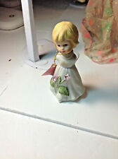 Vintage Roman Bisque February Angel of the Month Figurine 1984 With Tag Dv59