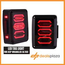 LED Tail Light Custom Style Smoke For Jeep Wrangler 2007-2016 1 Year Warranty