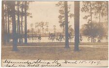 ALTAMONTE SPRINGS FL, LAKE ON HOTEL GROUNDS RPPC Florida Real Photo Postcard udb