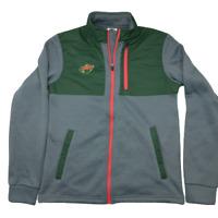 NHL Minnesota Wild Men's Small Green Fleece Full Zip Performance Jacket NWT
