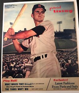 Copy Tony Conigliaro 1963 Questionnaire/ 1965 Advertiser Photo lot of 2 Red Sox