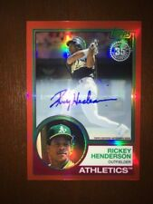 2018 Topps '83 Topps Silver Pack Chrome Auto 1/5 Red Refrac #66 Rickey Henderson