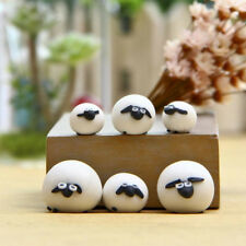 3 Pcs Mini Sheep Micro House Fairy Garden Figurine Miniature Doll Toy Home Decor