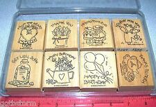 Stampin Up Nice & Easy Notes Stamp Set Thank you Get Well Happy Birthday Friends