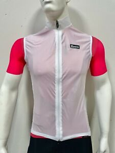 Santini Piumi Cycling Packable Wind Vest in White - Made in Italy Men's Size S