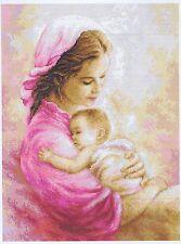 Madre y el bebé niño en Rosa Cross Stitch Kit Luca S G536