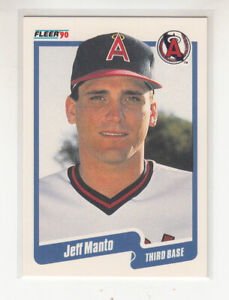 JEFF MANTO 1990 Fleer Canadian Canada #137 California Angels Mint
