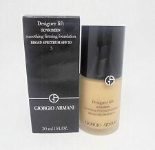 Giorgio Armani Designer Lift Sunscreen Smoothing Firming Foundation ~ 5 ~ 1. OZ