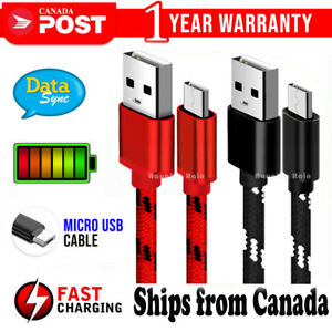 Fast Charging Micro USB Cable For Samsung S7 Edge S6 S5 S4 Android LG Huawei HTC