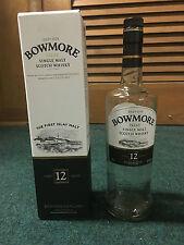 750 mL Bowmore 12 YO Islay Single Malt Scotch Whisky Bottle and Box